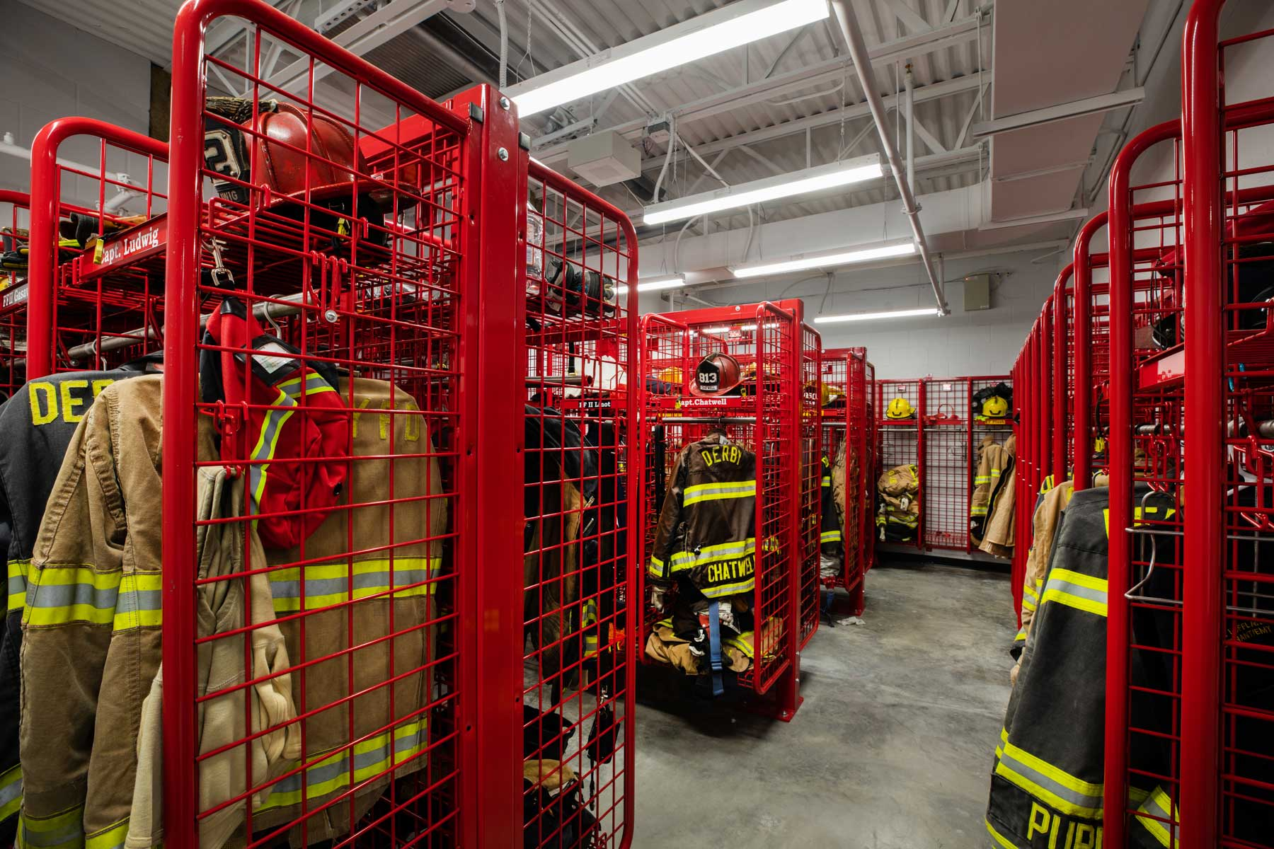 Derby Fire Station Equipment Room