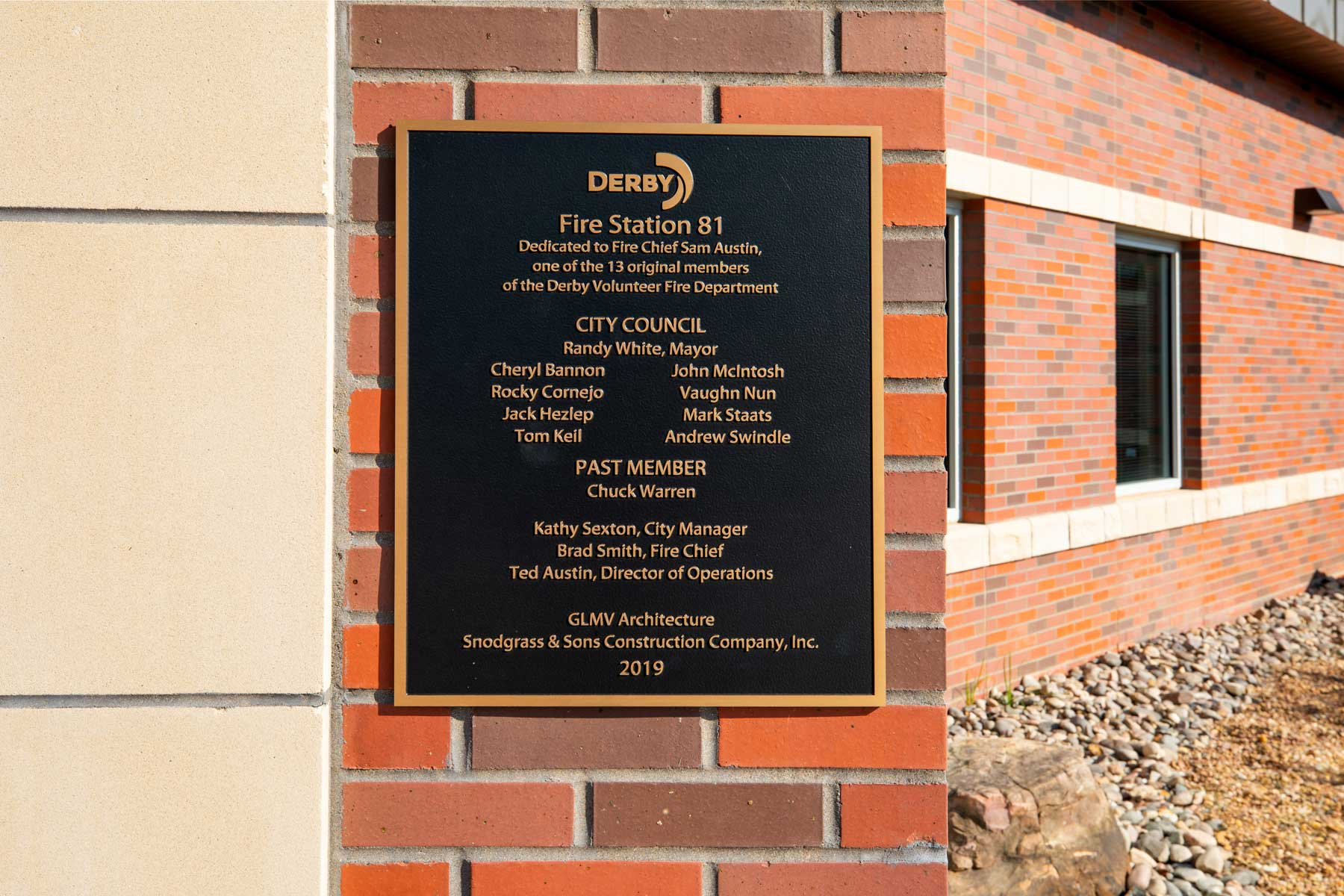 Derby Fire Station Plaque