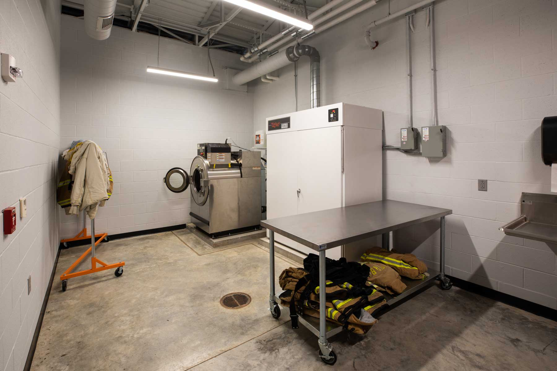 Derby Fire Station Laundry Room