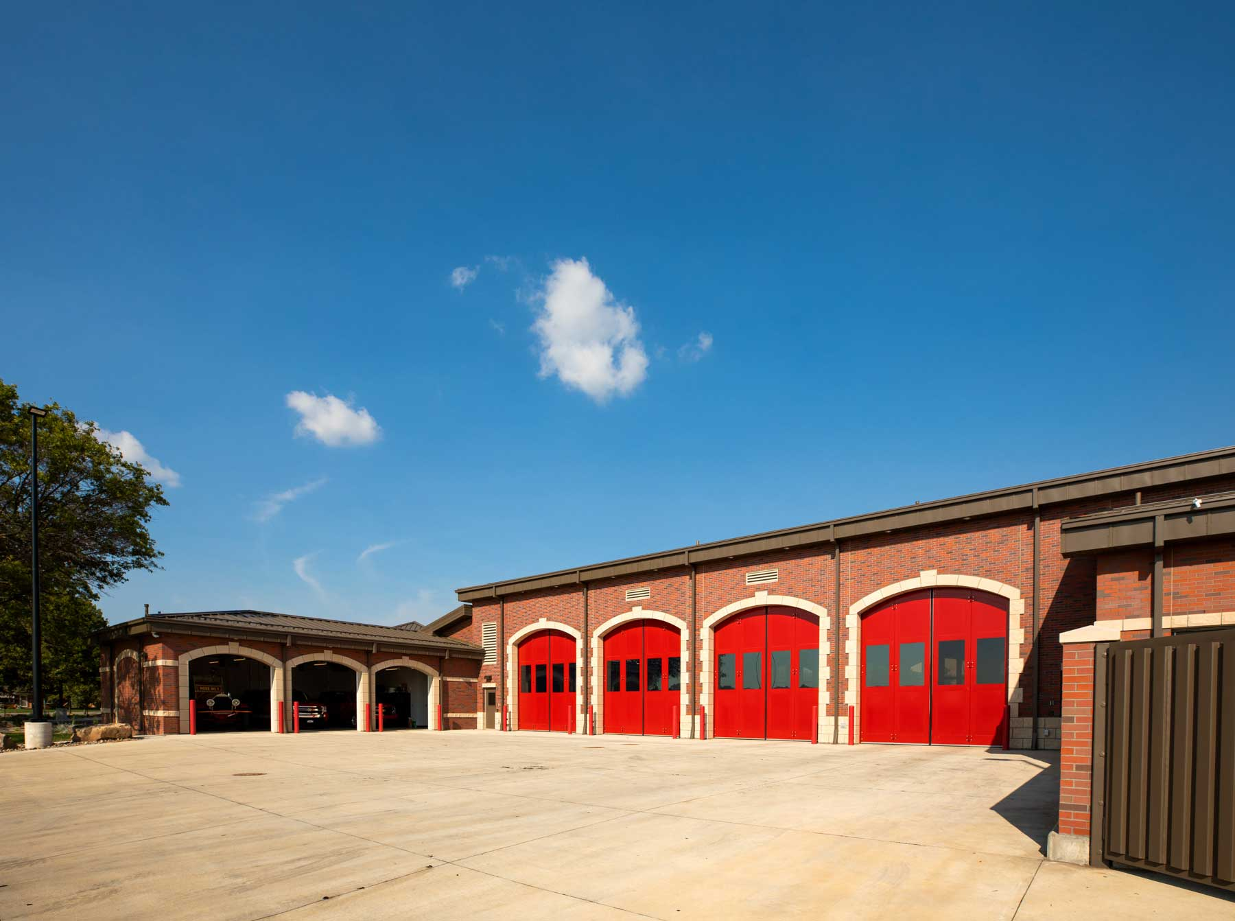 Derby Fire Station Red Doors