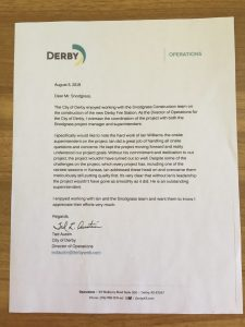 City of Derby Recommendation Letter