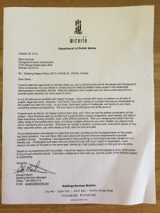 City of Wichita recommendation letter